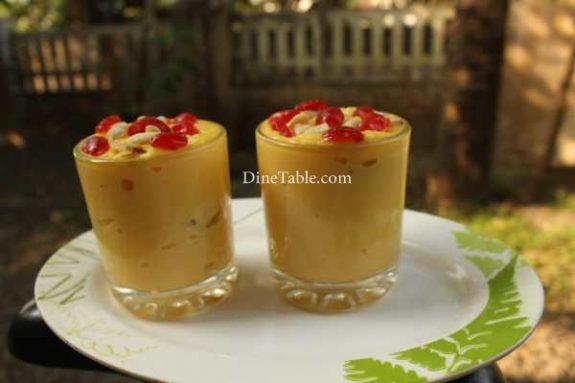 Banana Custard Recipe - Yummy Custard
