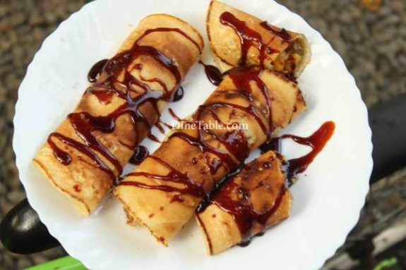 Banana Filling Pancake Recipe - Quick Pancake
