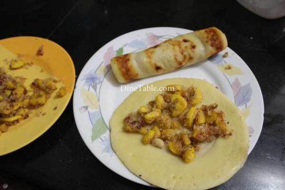 Banana Filling Pancake Recipe - Nutritious Pancake