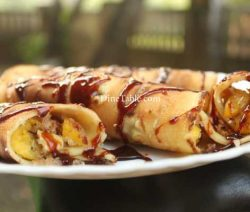 Banana Filling Pancake Recipe - Yummy Pancake