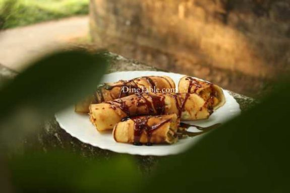 Banana Filling Pancake Recipe - Healthy Pancake
