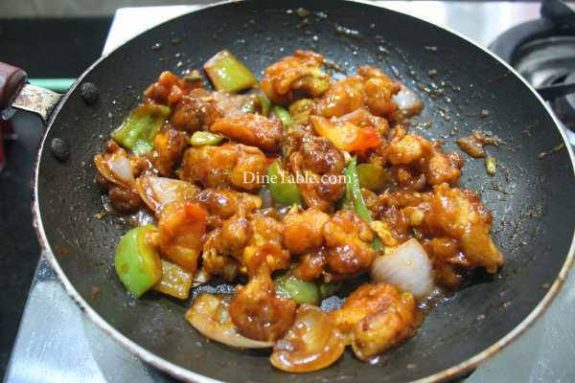 Chilly Cauliflower Recipe - Indian Dish