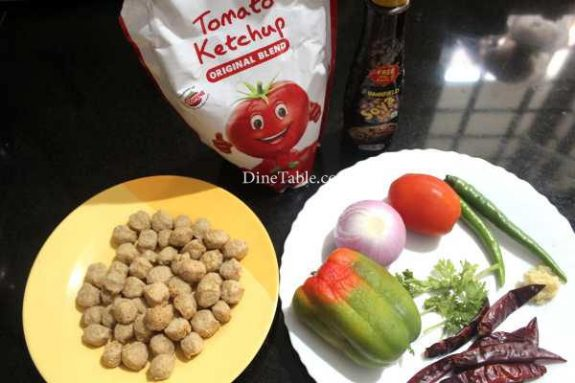 Chilly Soya Chunks Recipe - Simple Dish