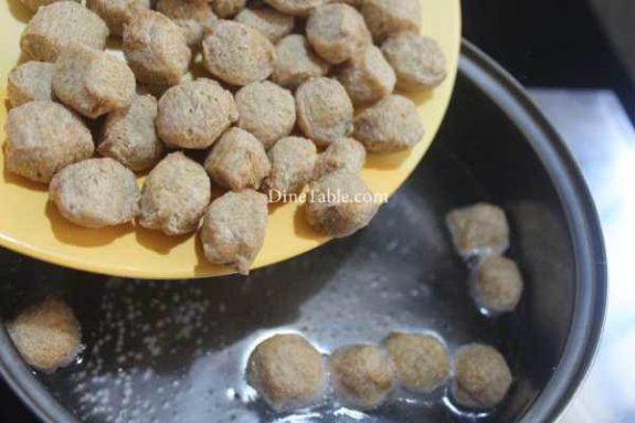 Chilly Soya Chunks Recipe - Quick Snack
