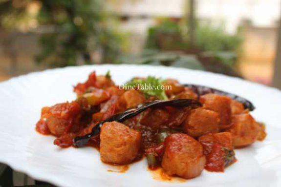 Chilly Soya Chunks Recipe - Homemade Dish