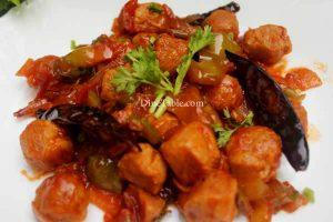 Chilly Soya Chunks Recipe