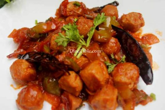 Chilly Soya Chunks Recipe - Indian Dish