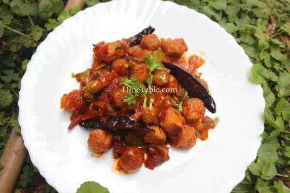 Chilly Soya Chunks Recipe - Kerala Dish