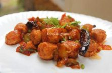 Chilly Soya Chunks Recipe - Crunchy Dish