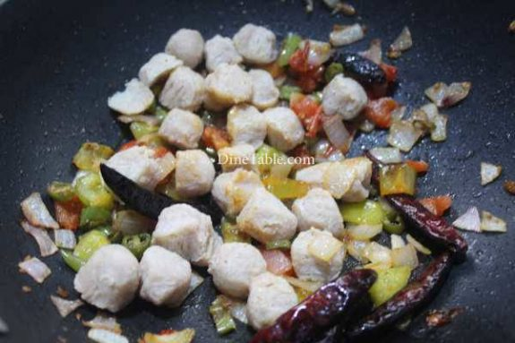 Chilly Soya Chunks Recipe - Vegetarian Dish