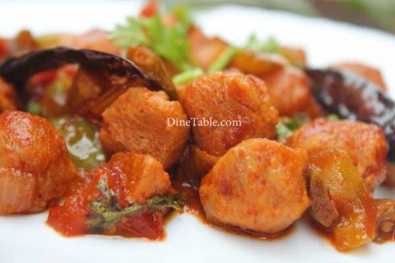 Chilly Soya Chunks Recipe - Yummy Dish