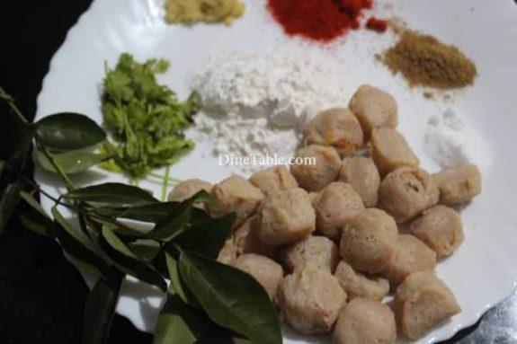 Soya Chunks Fry Recipe - Vegetarian Snack