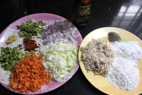 Chicken & Vegetable Fingers Recipe - Indian Snack