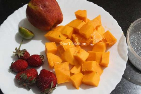 Papaya Apple Strawberry Salad Recipe - Yummy Dish