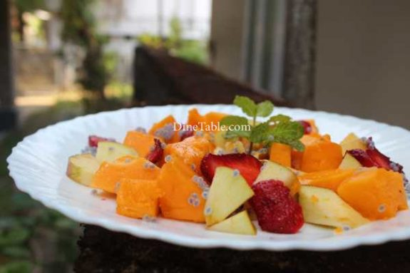 Papaya Apple Strawberry Salad Recipe - Simple Dish