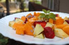 Papaya Apple Strawberry Salad Recipe - Homemade Dish