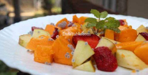 Papaya Apple Strawberry Salad Recipe - Homemade Dish