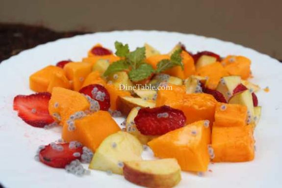 Papaya Apple Strawberry Salad Recipe - Delicious Dish