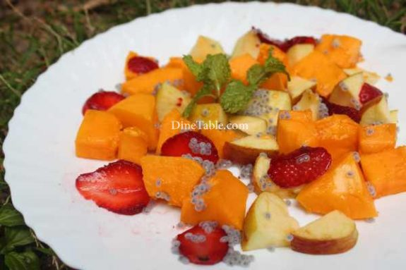 Papaya Apple Strawberry Salad Recipe - Tasty Dish