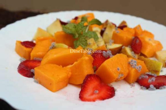 Papaya Apple Strawberry Salad Recipe - Easy Dish