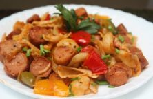 Bell Pepper Sausage Pasta Recipe - Variety Dish