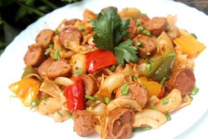 Bell Pepper Sausage Pasta Recipe