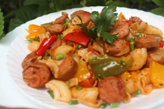 Bell Pepper Sausage Pasta Recipe - Yummy Dish