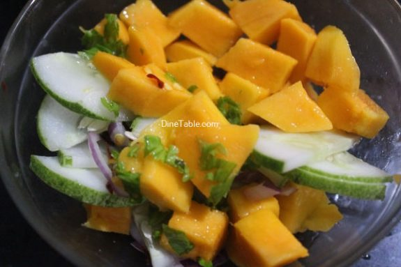 Cucumber Mango Onion Salad Recipe - Quick Salad