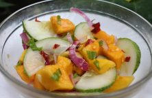 Cucumber Mango Onion Salad Recipe - Homemade Salad