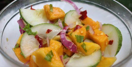 Cucumber Mango Onion Salad Recipe - Homemade Salad