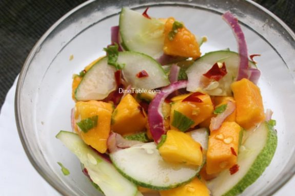 Cucumber Mango Onion Salad Recipe - Easy Salad