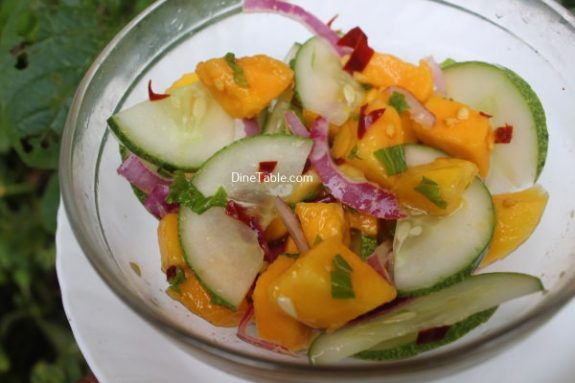 Cucumber Mango Onion Salad Recipe - Healthy Salad