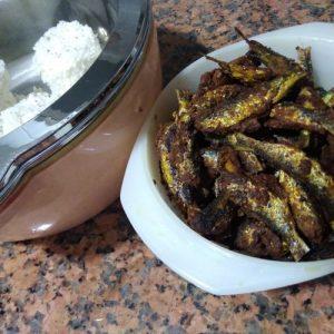 Spicy Mathi Fry / Sardine Fry - Kerala Style Fish Fry