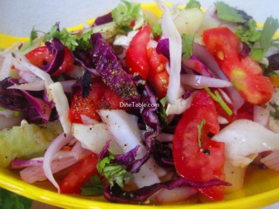 Cucumber, White and Purple Cabbage Salad Recipe - Delicious Salad