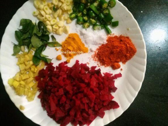 Beetroot Achaar Recipe - Kerala Pickle