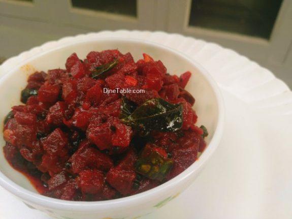 Beetroot Achaar Recipe - Healthy Pickle