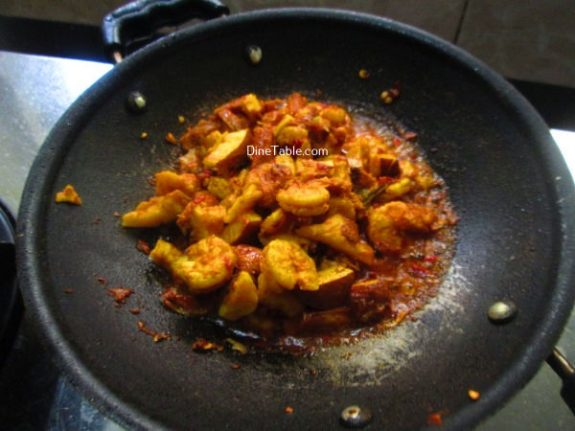 Chemmeen Thenga Kothu Masala Recipe - Quick Dish