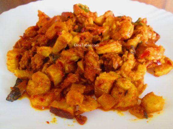 Chemmeen Thenga Kothu Masala Recipe - Kerala Dish