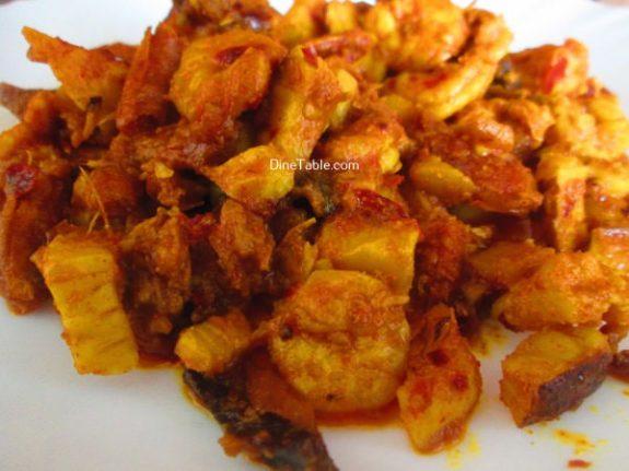 Chemmeen Thenga Kothu Masala Recipe - Tasty  Dish